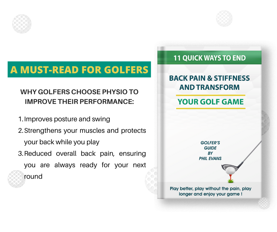 Golf Guide on Physiotherapy for any golf injury,  Back Pain