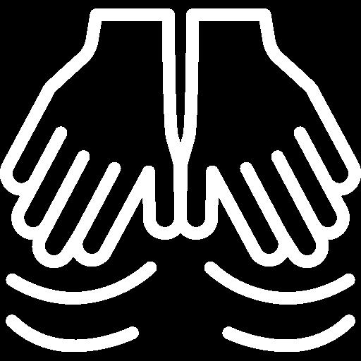sports massage white icon